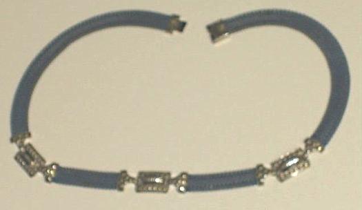 vintage 1930s art deco blue enamel necklace