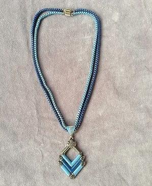 1930s blue enamel art deco necklace