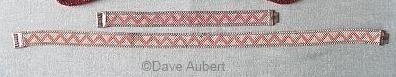 05 pink geometric enamel 1930s art deco necklace bracelet set