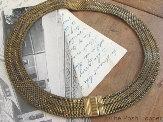 11 1930s art deco enameled mesh necklace at THE POSH HOPPER on Etsy