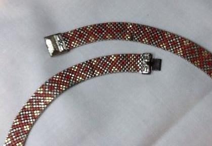 red patterned choker V2