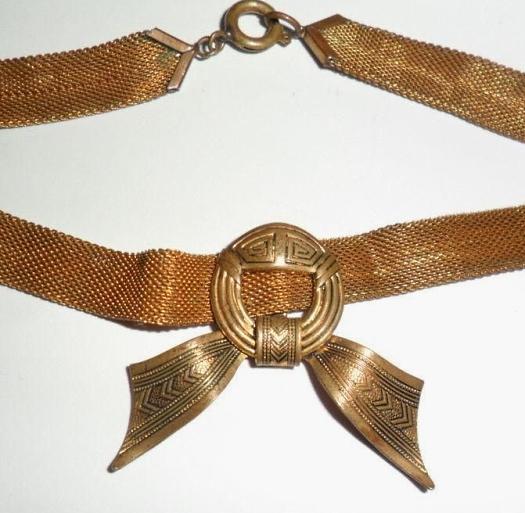 bronze mesh choker v2