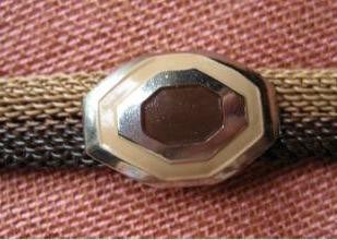 two tone brown bracelet detail