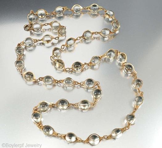 German vintage pools of light necklace
