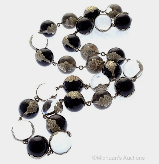 smoky quartz and crystal pools of light necklace