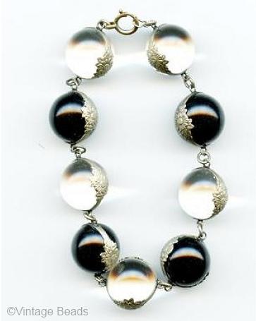 black and white pools of light bracelet