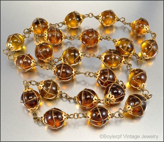 topaz glass pools of light necklace