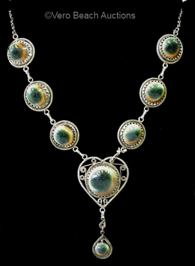 operculum filigree heart necklace
