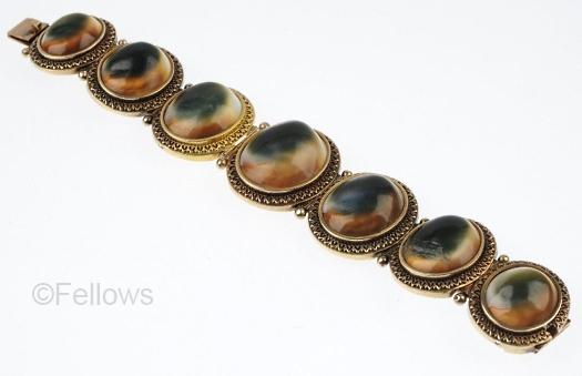 18k gold antique operculum bracelet
