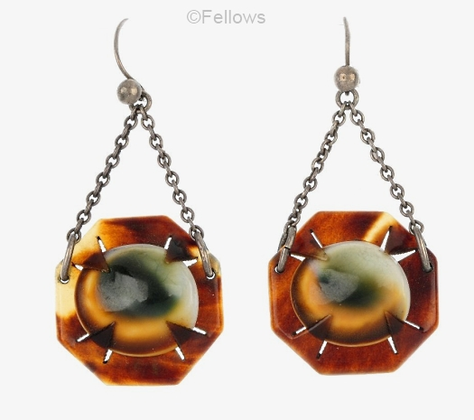 03a operculum tortoise earrings