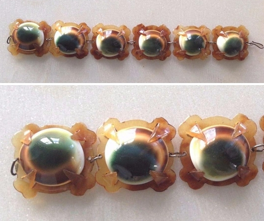 06 operculum and blond tortoise bracelet