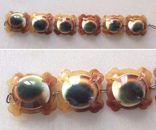 06 operculum and blond tortoise bracelet