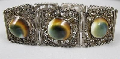 operculum filigree panel bracelet