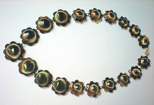 07 floral motif operculum and tortoise necklace
