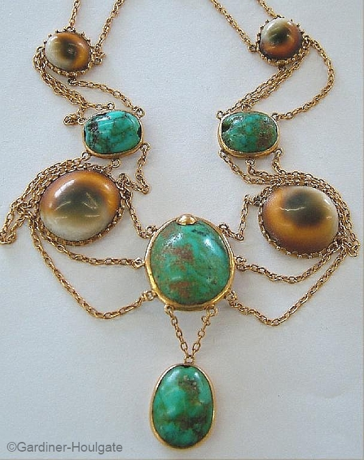 operculum and turquoise necklace