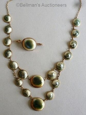 operculum necklace and brooch