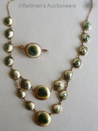 operculum necklace and brooch