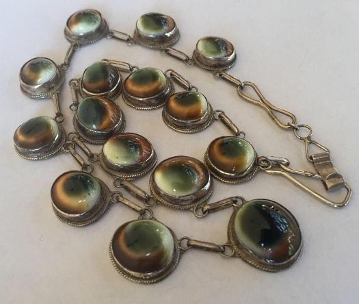 sterling operculum necklace