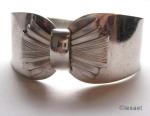 1930s silvertone bow cuff bracelet v1