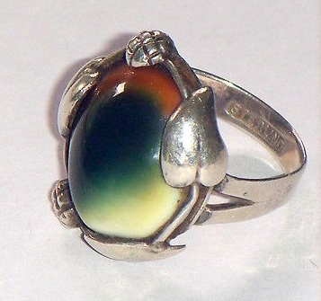 sterling leaf motif operculum ring