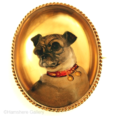 No dimensions were supplied for this pug dog portrait.