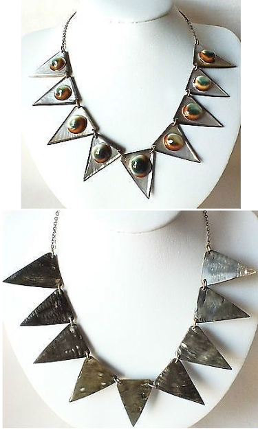 operculum and mother of pearl necklace