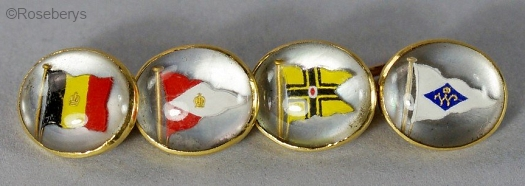 Essex crystal flag cufflinks