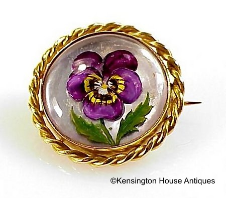Essex crystal pansy brooch