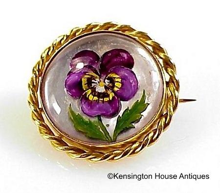 Essex crystal pansy brooch