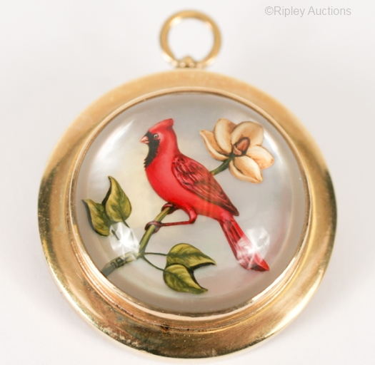 Essex crystal cardinal as a pendant