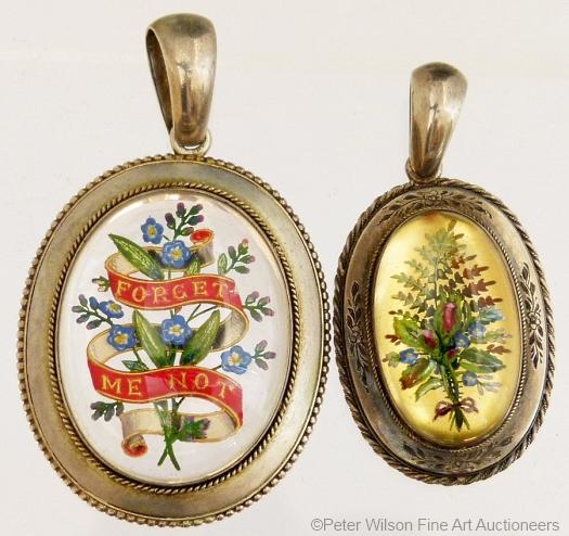 two Essex crystal botanical pendants