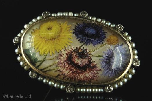Essex crystal autumn flowers brooc