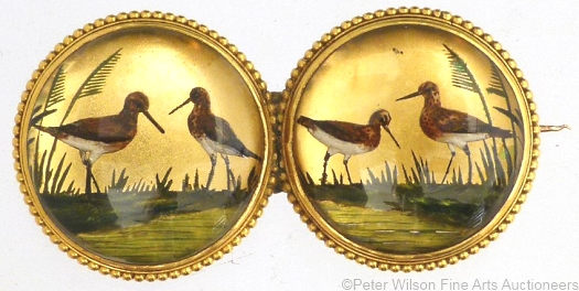 Essex crystal shorebirds brooch