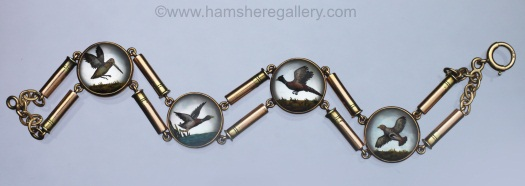 Essex crystal game birds bracelet