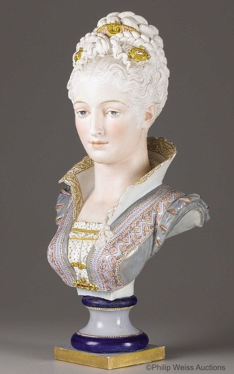 01a Paul Duboy lady bust in grey and pink