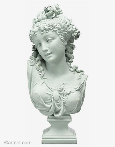 06a Paul Duboy lady bust in Parian porcelain