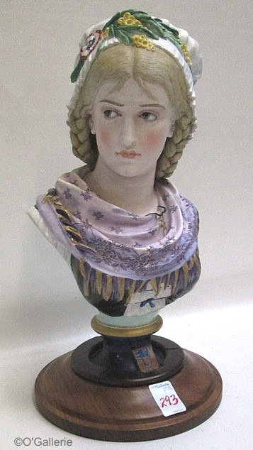 07b Paul Duboy peasant girl bust with pink scarf