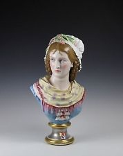07c Paul Duboy peasant girl bust with cream scarf