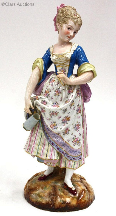 09c Paul Duboy country girl with stein in high glaze