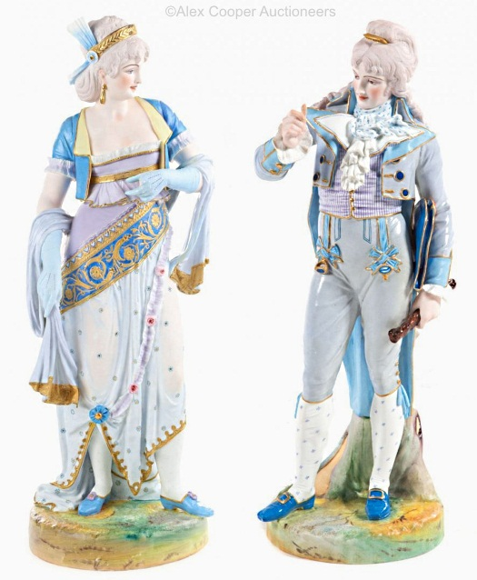 11a Paul Duboy gentleman and lady figures