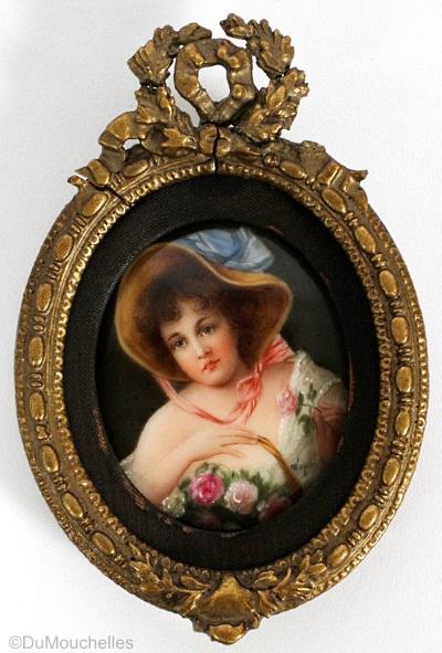 Wagner plaque Rosemaid framed