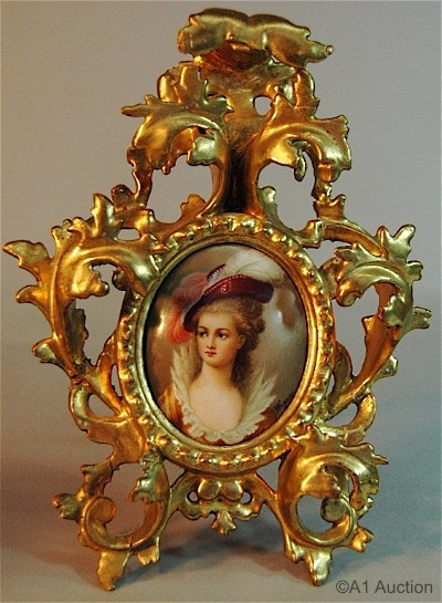 Wagner small plaque in ornate gilt frame