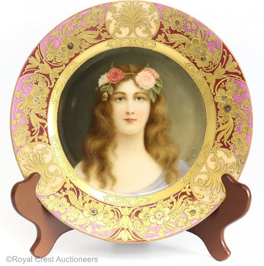 Royal Vienna Wagner plate Rose