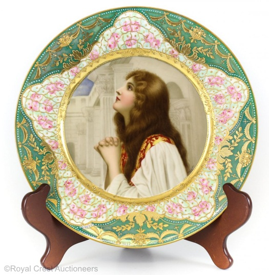Royal Vienna Wagner plate Devotion
