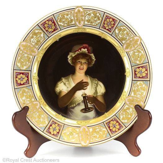Royal Vienna Wagner plate Lissette