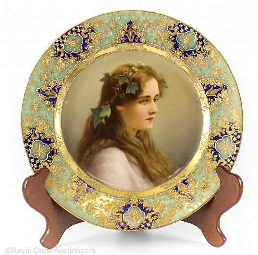 Royal Vienna Wagner plate Hopfer
