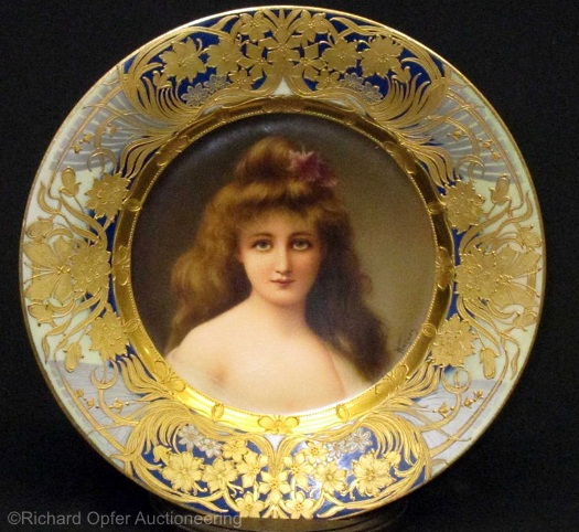 Royal Vienna Wagner plate Meditation
