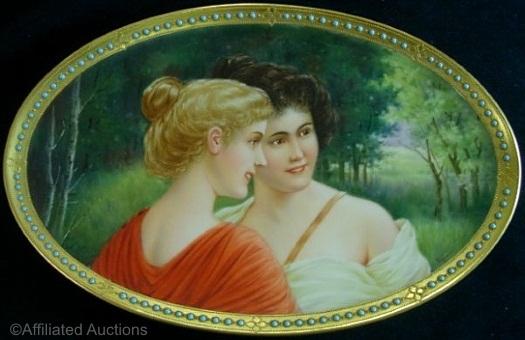 Wagner oval jeweled plate