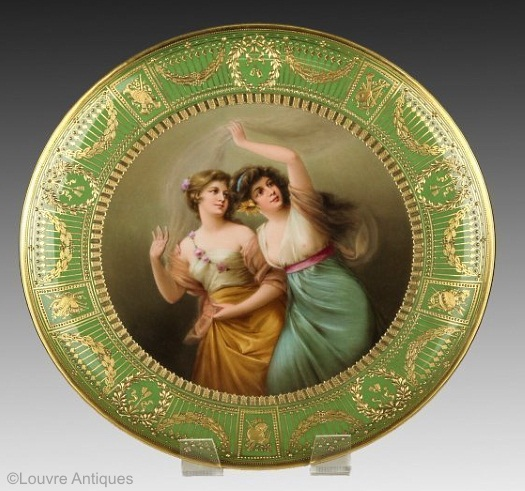 Wagner portrait plate Royal Vienna ...  sc 1 st  The Chatsworth Lady & Antique Royal Vienna Porcelain Cabinet Plates | The Chatsworth Lady