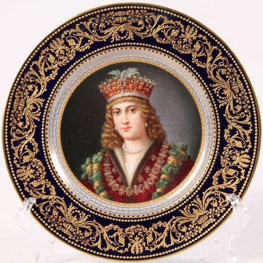 Wagner portrait plate of Catherine deMedici
